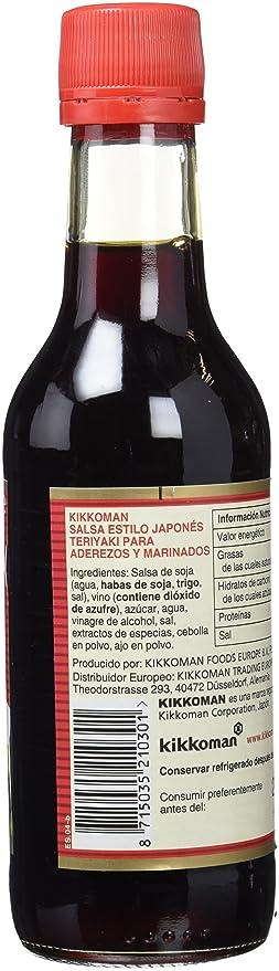 Kikkoman Salsa Teriyaki - 2 Recipientes de 250 ml - Total: 500 ml: Amazon.es: Alimentación y bebidas