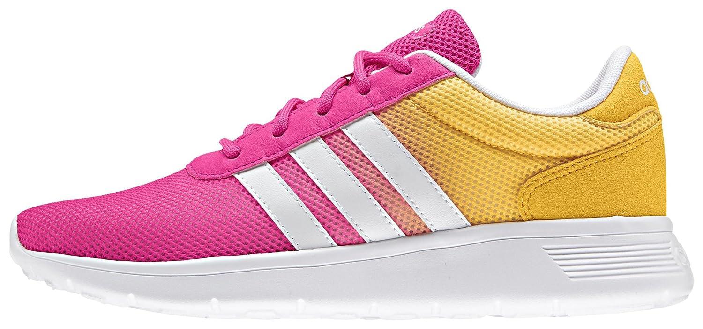 adidas Damen Lite Racer W Fitnessschuhe, Rosa, EU  40 2/3 EU|Schwarz / Wei? (Negbas / Negbas / Ftwbla)