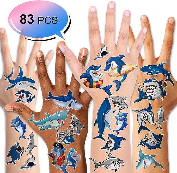 Konsait Tatuajes Temporales para Niños Niñas, Delfines Tiburón ...