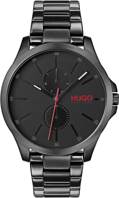 Hugo Reloj Multiesfera para Hombre de Cuarzo con Correa en Acero Inoxidable 1530028