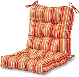 Greendale Home Fashions AZ5815-WATERMELON Coral 42'' x 21'' Outdoor Seat/Back Chair Cushion