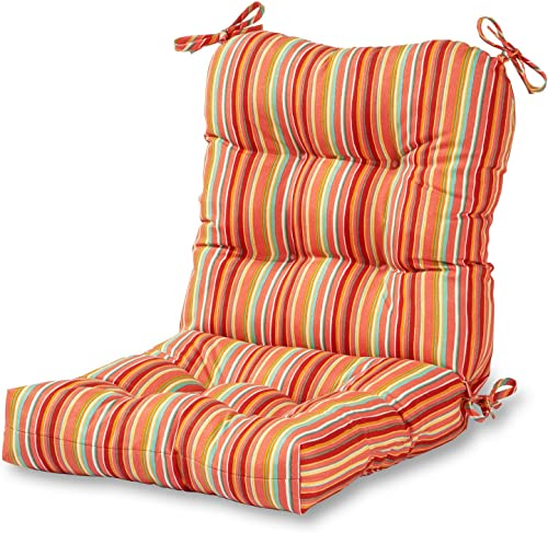 Greendale Home Fashions AZ5815-WATERMELON Coral 42'' x 21'' Outdoor Seat/Back Chair Cushion