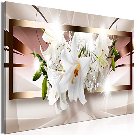 bis 150 cm Geschenk Deko Bild Foto auf echter Leinwand Magnolie Blumen 3 tlg