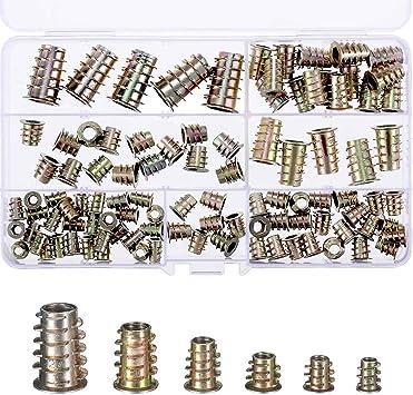 100PCS /Écrous Filet/és /Écrous Inserts en Alliage de Zinc Inserts de Meubles /Écrou Hexagonale Inserts /Écrous M4 M5 M6 M8 M10