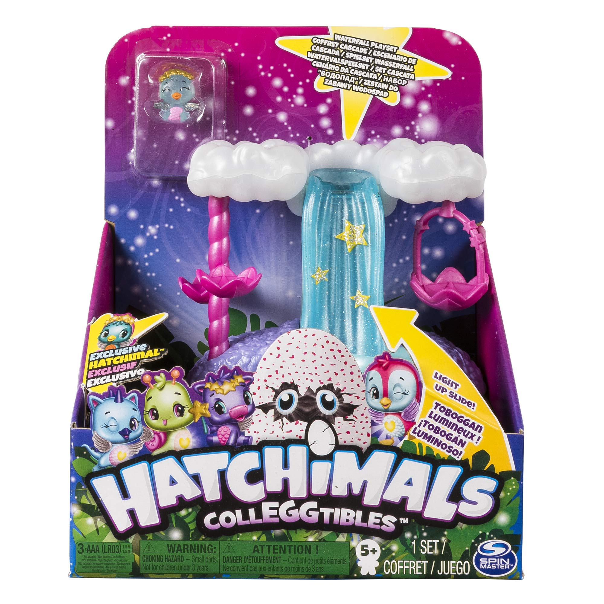 Mixed Colours Spin Master Hatchimals 6045503 Colleggtibles Series 5 Water Slide Playset