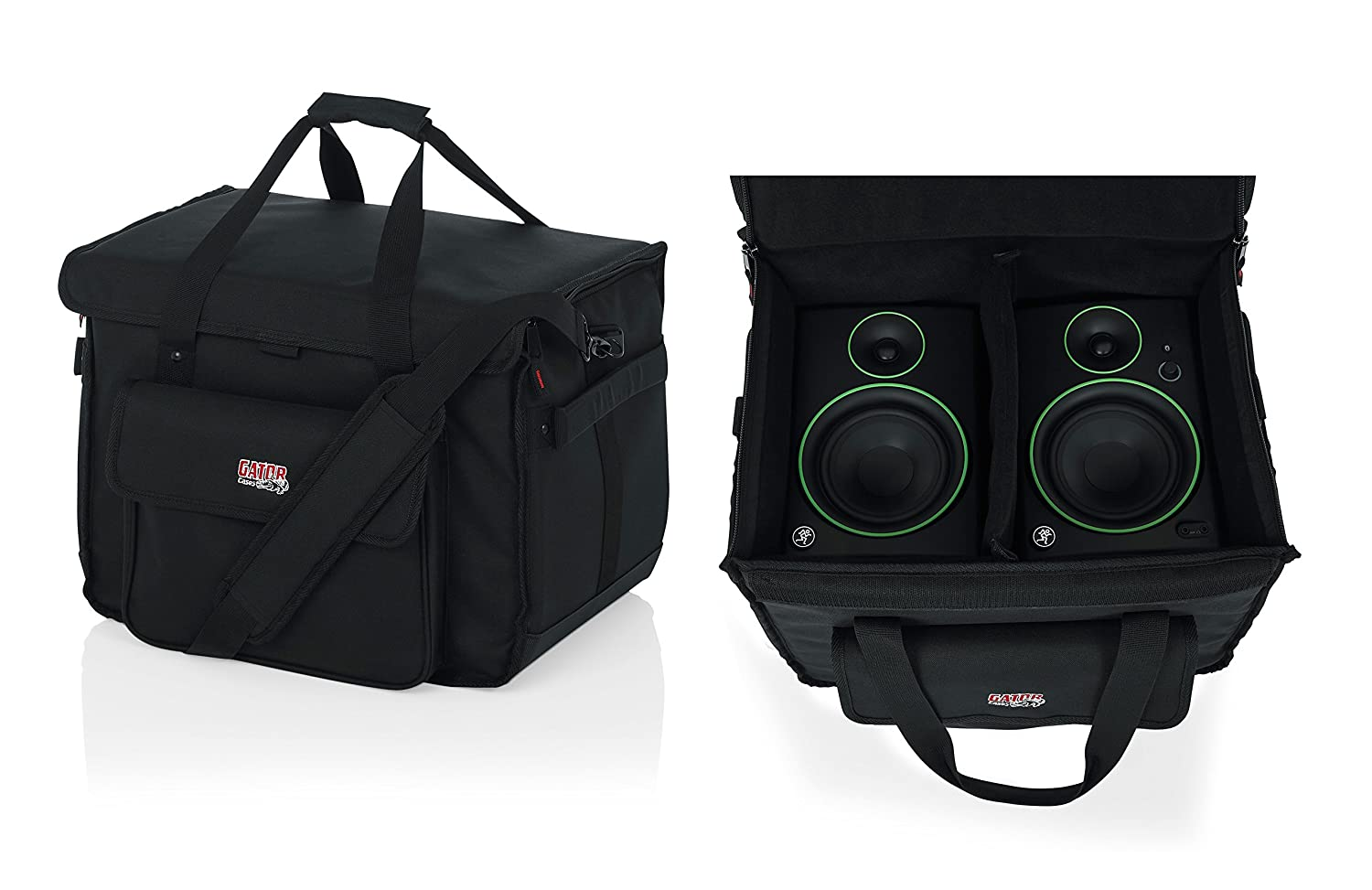Gator Cases Studio Monitor Tote Bag Holds (2) Powered Monitors Up to 5