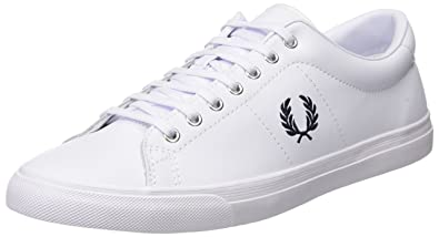 Fred Perry Spencer Leather, Zapatos de Cordones Oxford para Hombre, Blanco (White), 41 EU