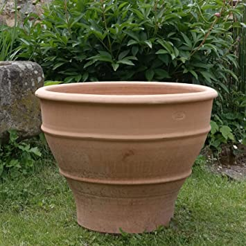 Sehr Kreta-Keramik, frostfester handgefertigter Terracotta Topf BW76