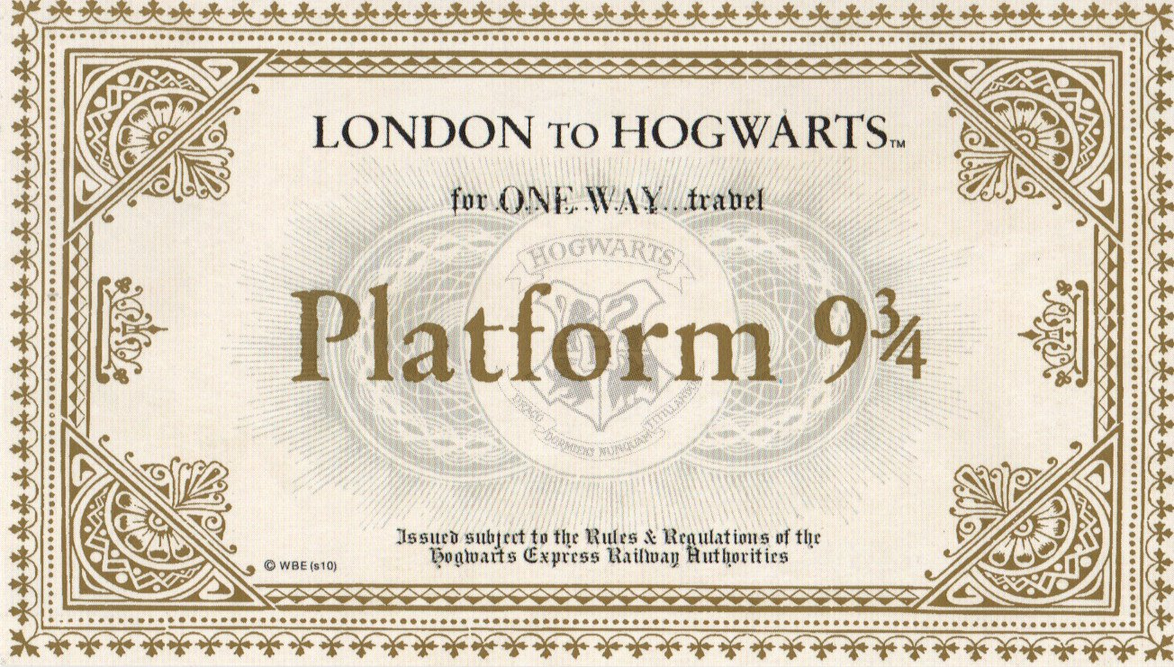 Weddingplus New Stock In Hogwarts Express Train Ticket For Platform 9 3 4