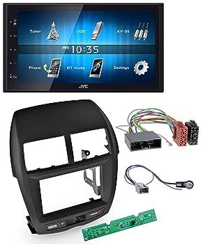2010-2014 caraudio24 JVC KW-M24BT 2DIN Bluetooth MP3 AUX USB Autoradio f/ür Mitsubishi ASX