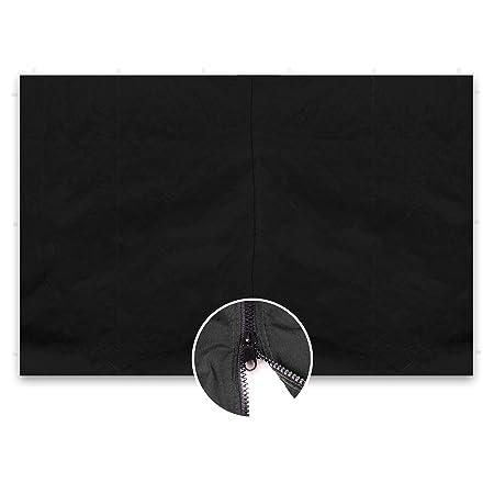 2 Seitenteile für PROFI Falt Pavillon schwarz mit Fenster Polyester 180 g//m²
