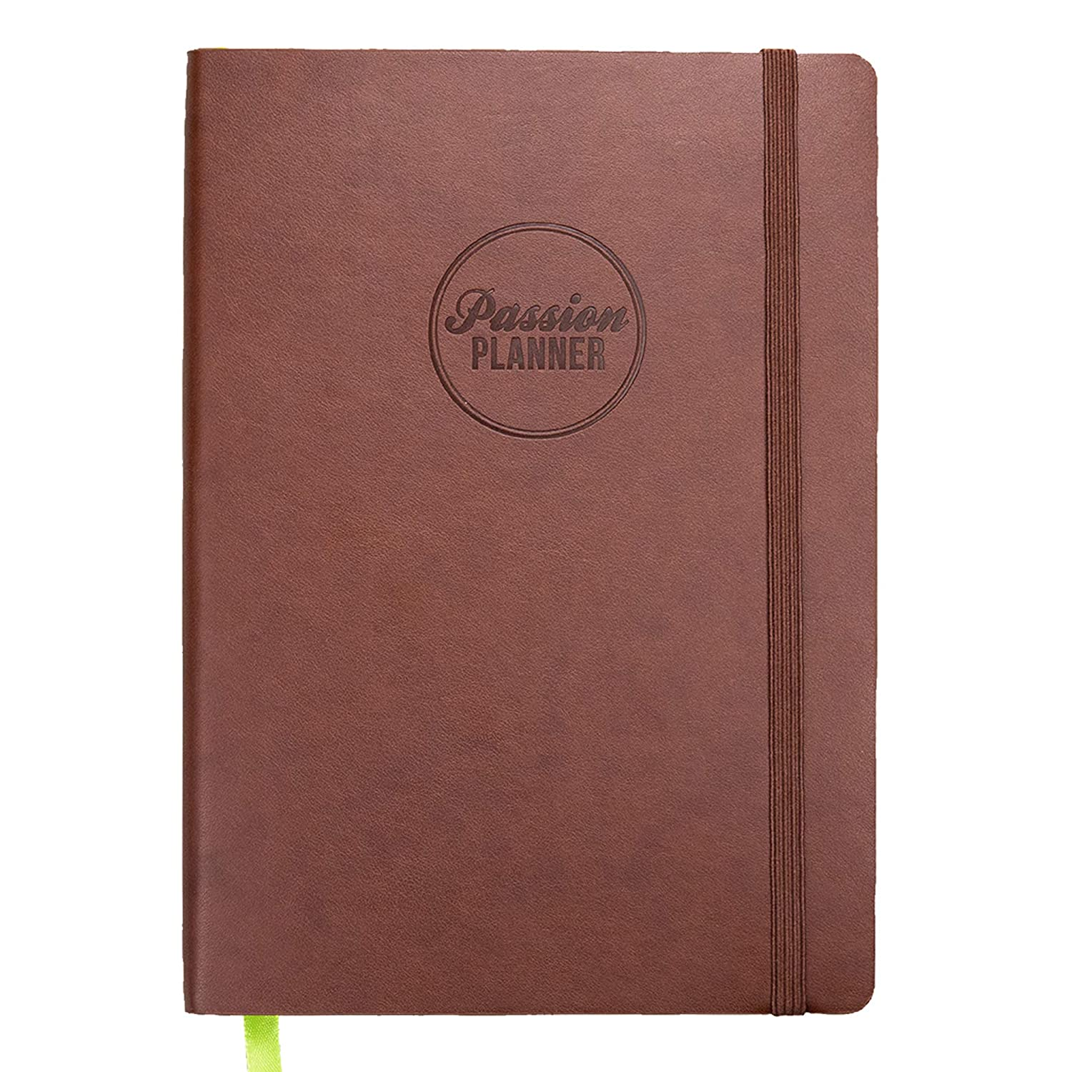 Academic Passion Planner Medium Aug 2019 - Jul 2020 - Goal Oriented Weekly Agenda, Reflection Journal (B5-6.9 x 9.8 in) Monday Start (Bold Brown)