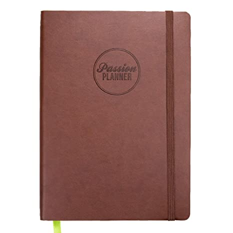 Academic Passion Planner Small Aug 2019 - Jul 2020 - Goal Oriented Weekly Agenda, Reflection Journal (A5-5.8 x 8.3 in) Monday Start (Bold Brown)