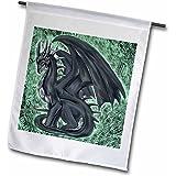 3dRose fl_4148_1 Night Dragon, Garden Flag, 12 by 18-Inch
