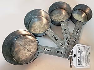 Home Essentials 4 Piece Galvanized Measuring Cup