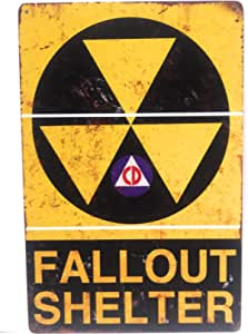 $29 Fallout shelter sign original not a reproduction   FREE SHIPPING !