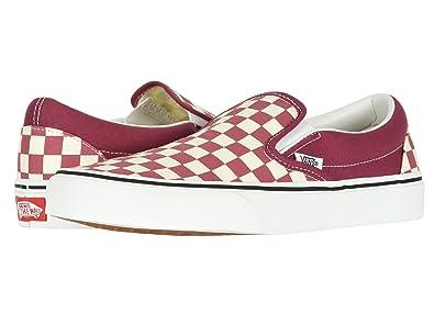 vans slip on checkerboard size 7