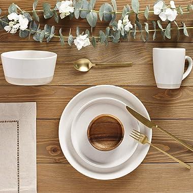 Safdie & Co. Dinnerset Premium Dinnerware Set, Cream