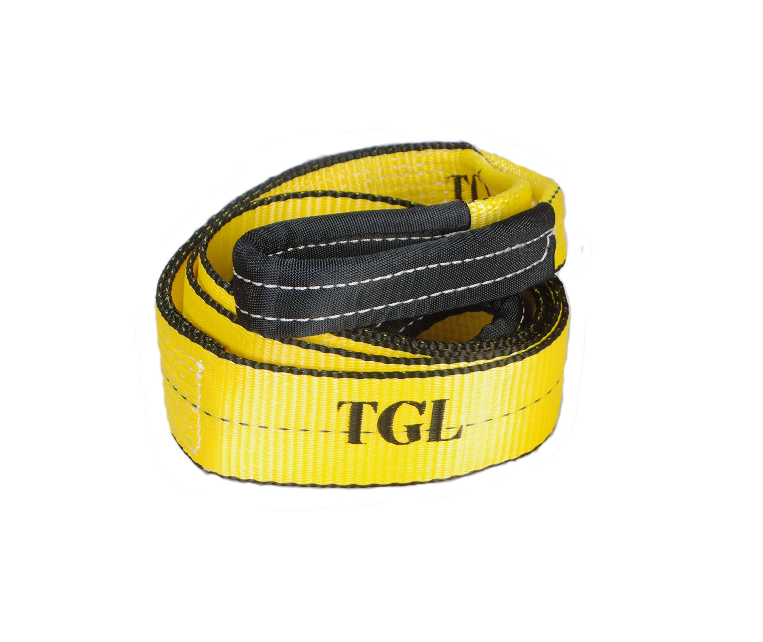 TGL 3 inch, 8 Foot Tree Saver, Winch Strap, Tow Strap 30,000 Pound Capacity by TGL