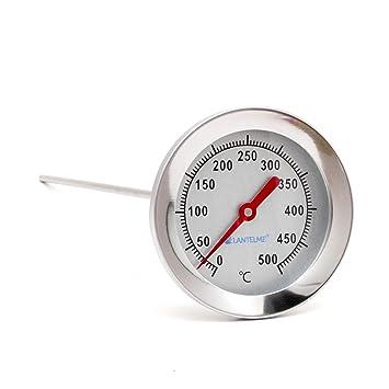 Acero inoxidable 400 °c grados Termómetro resistente al agua 30 cm Con Latón Cono,