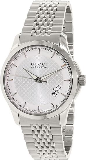 2458aca4615 Gucci Men s G-Timeless YA126417 Silver Stainless-Steel Swiss Quartz Watch