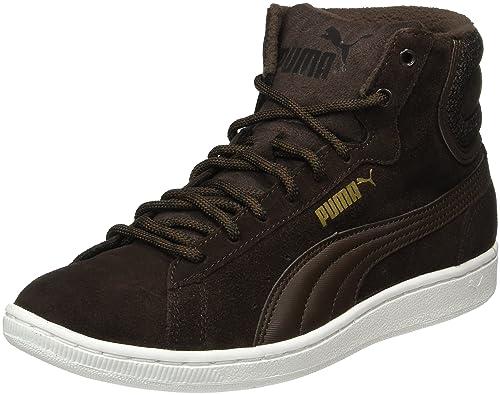 Puma Vikky Mid Twill Sfoam 362629 - Zapatillas para Mujer, Color Marrón (Black Coffee-Black Coffee 02), Talla 36 EU