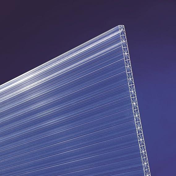 Stegplatten Doppelstegplatten Hohlkammerplatten klar 16 mm X-Struktur 1200mm