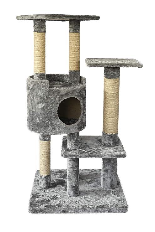 Amazon.com: AmazonBasics Árbol para gatos con cueva, Mediano ...