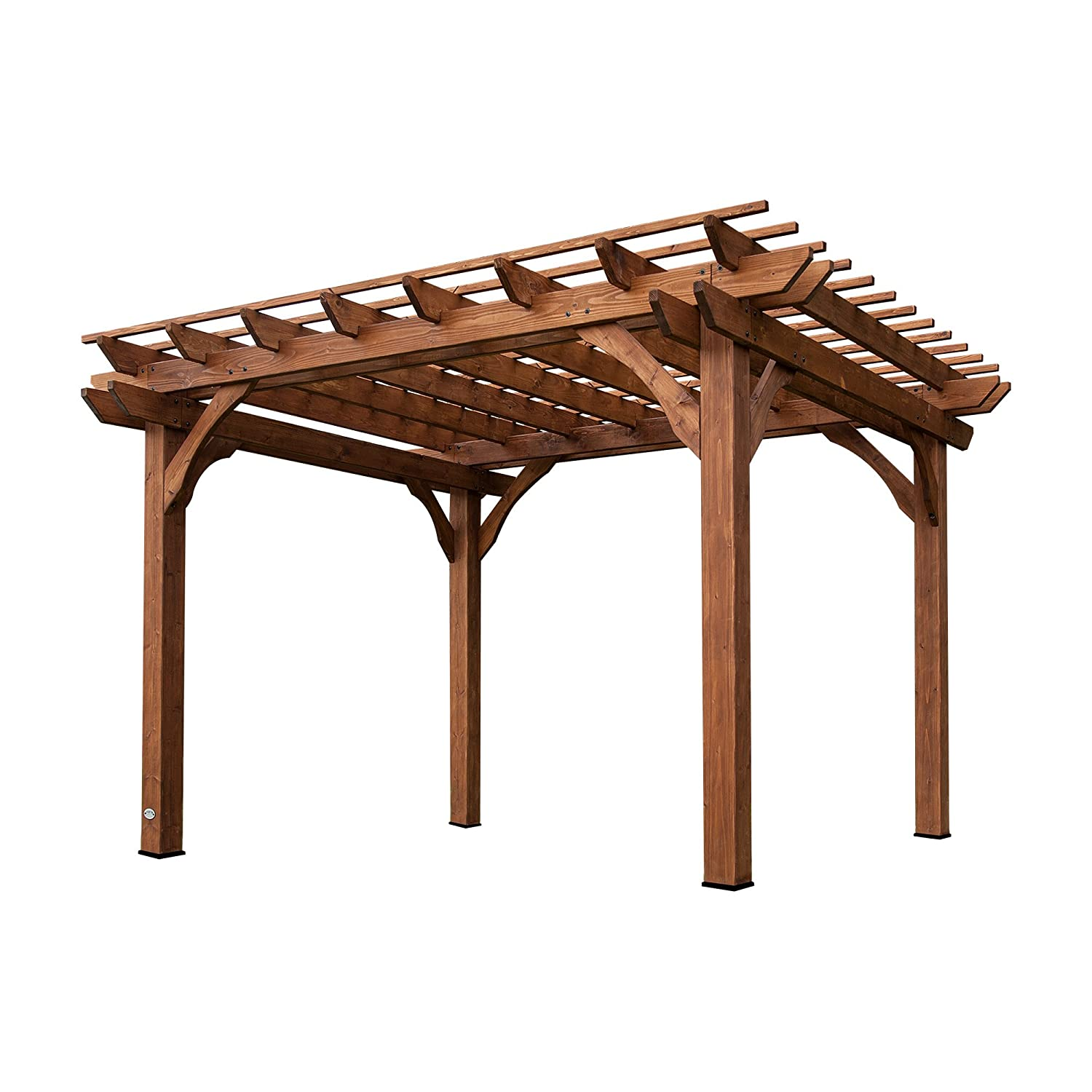 Amazon.com : Backyard Discovery Cedar Pergola 12u0027 By 10u0027 : Garden U0026 Outdoor