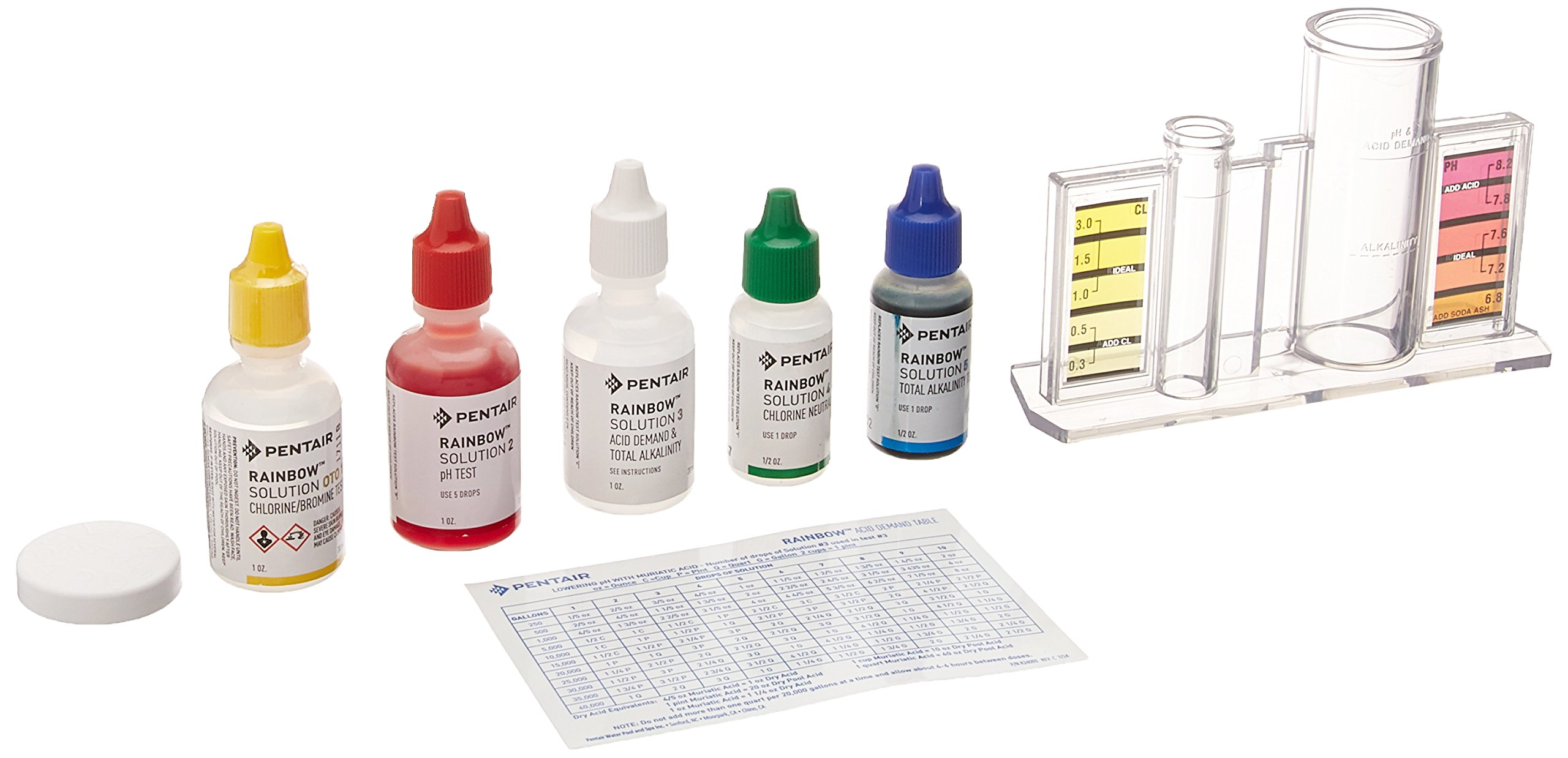 Pentair R151186 78HR All in One 4 Way pH and Chlorine Test Kit by Pentair