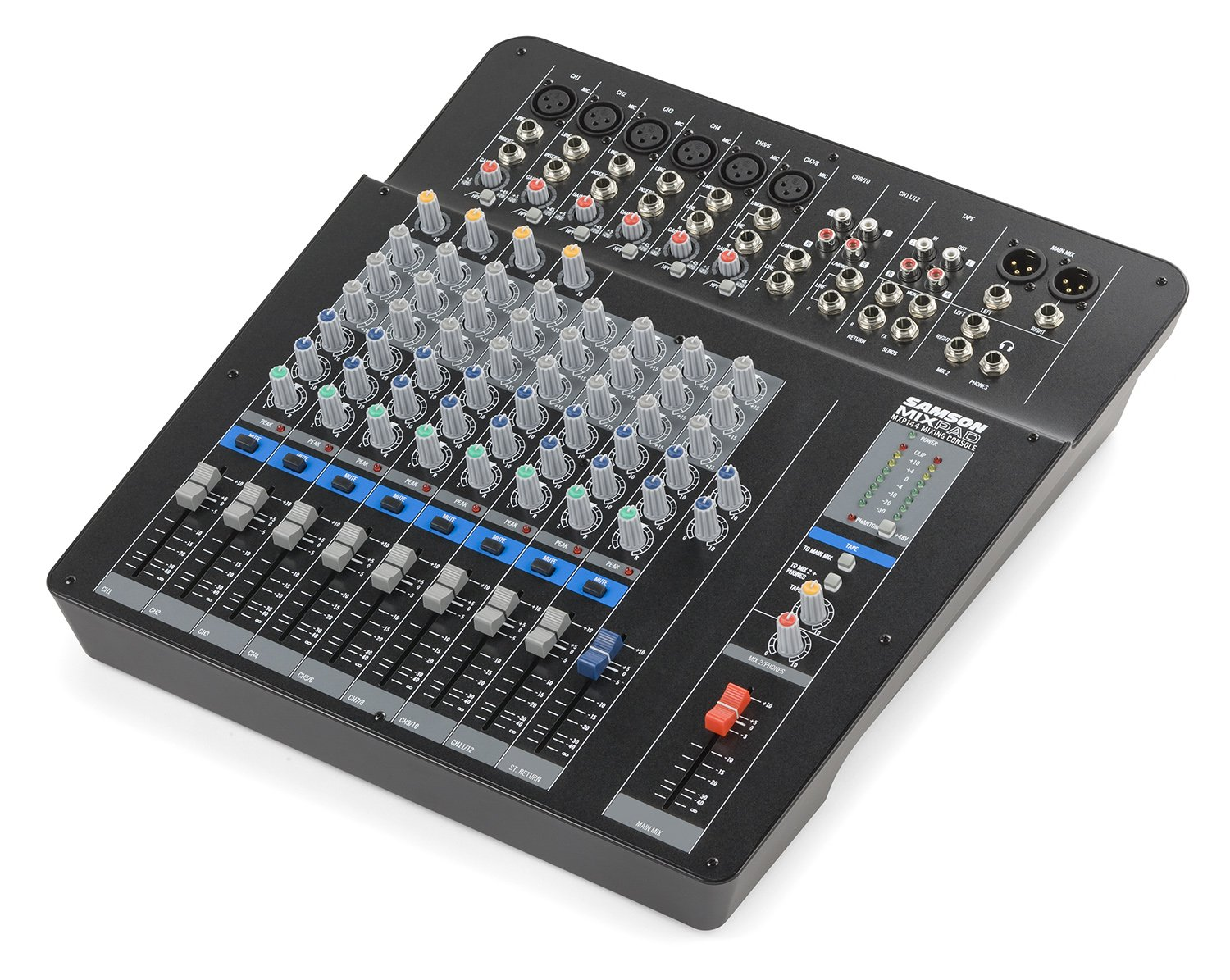 Samson Mixpad MXP124FX 12-Channel USB Mixer with Digital Effects Samson Audio SAMXP124FX