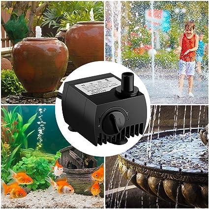 Aquarium Brunnen Maxesla Mini Wasserpumpe Tauchpumpe Unterwasser Wasserspielpumpe f/ür Teiche Aquariumpumpe Garten Gartenteich Springbrunnen