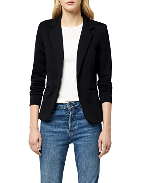 c8bb5648 ICHI Women Long Sleeve Casual One Button Suit Blazer Jacket Basic Work  Office Coat: Amazon.ca: Clothing & Accessories