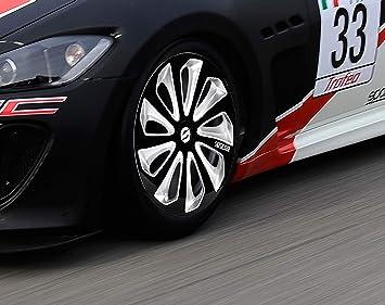 Amazon.com: Sparco SPC1673BKSV Sicilia Wheel Covers, Black/Silver, Set of 4, 16