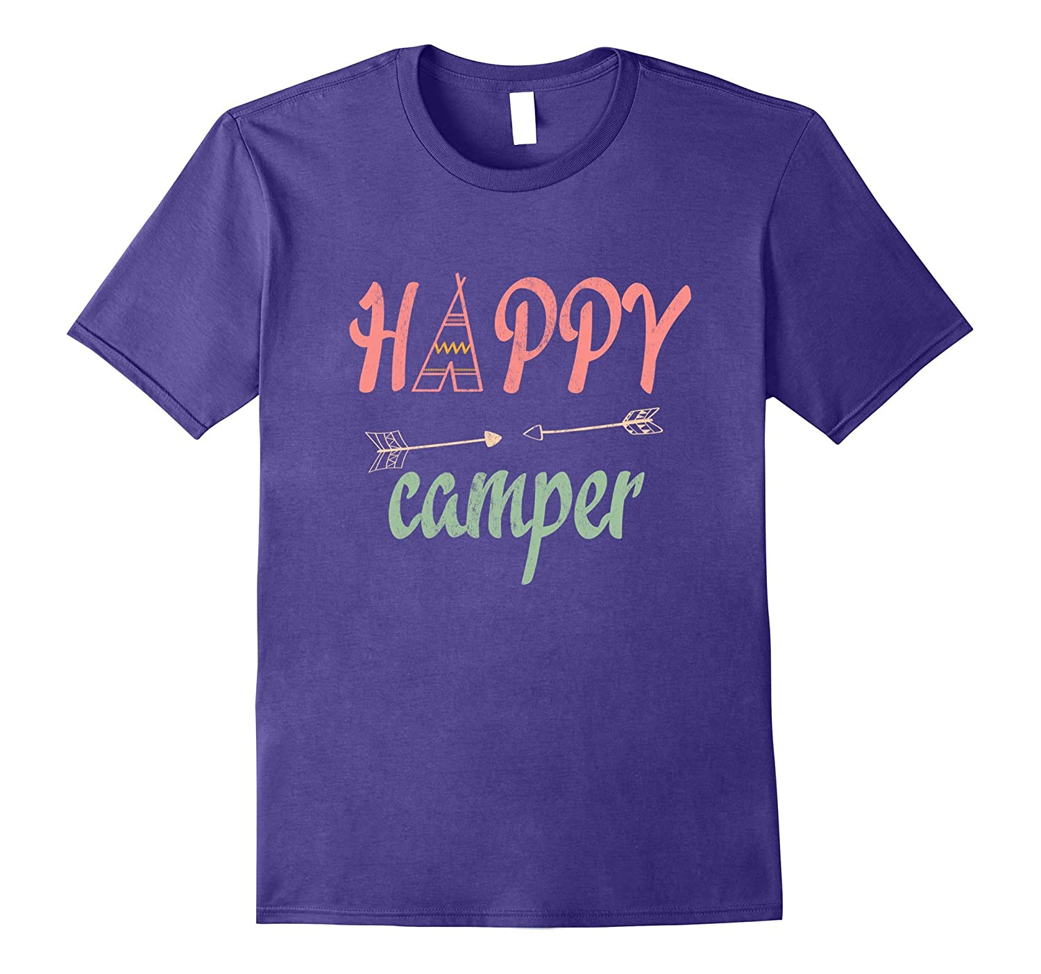 Arrow Happy Camper TShirt - Funny Camping Shirt-T-Shirt