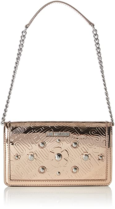 Moschino Borsa Embossed Tpu Rame, Sacs portés épaule femme, (Copper), 5x13x22 cm (B x H T)