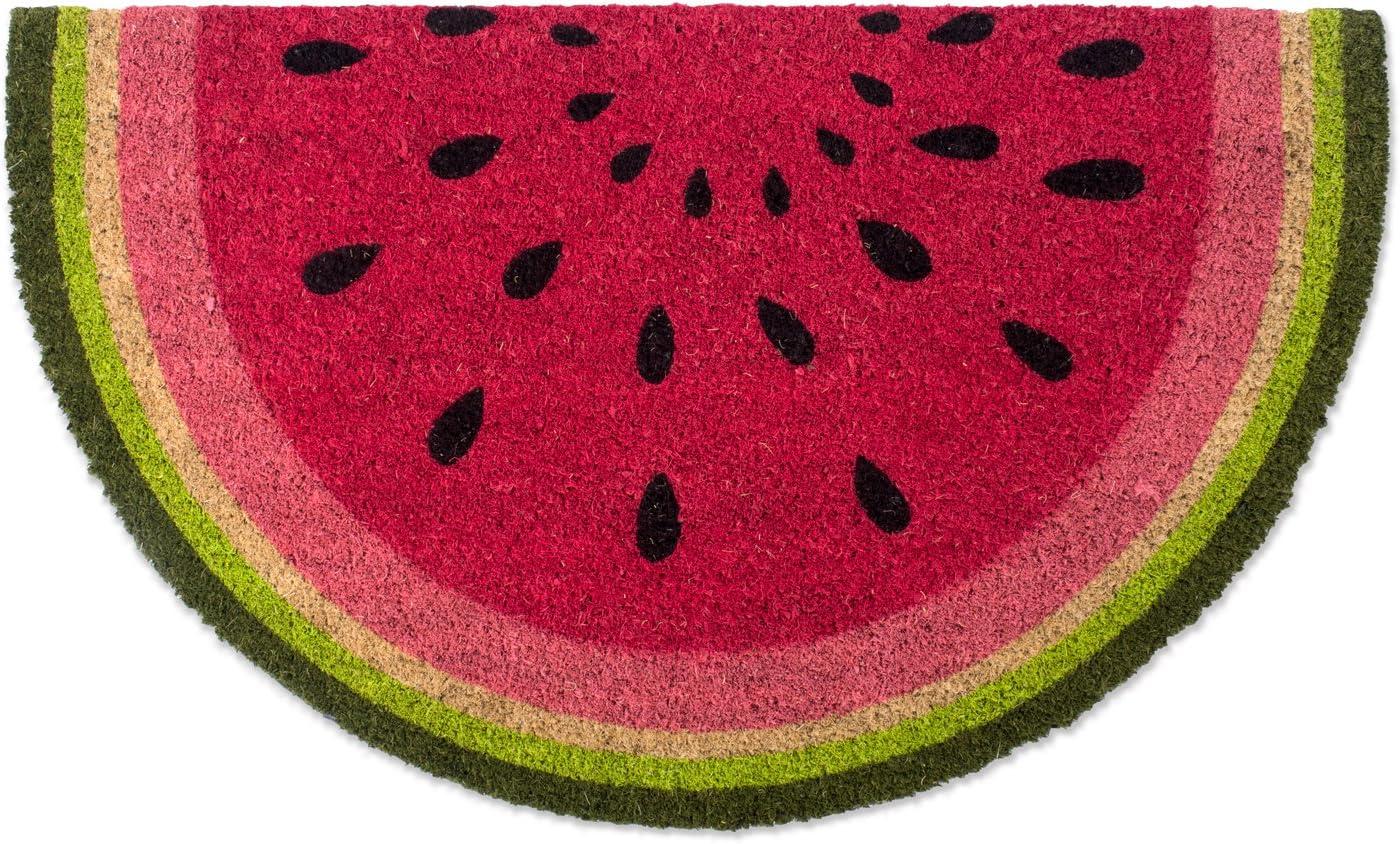 DII Indoor/Outdoor Natural Coir Fiber Spring/Summer Doormat, 18x30, Watermelon