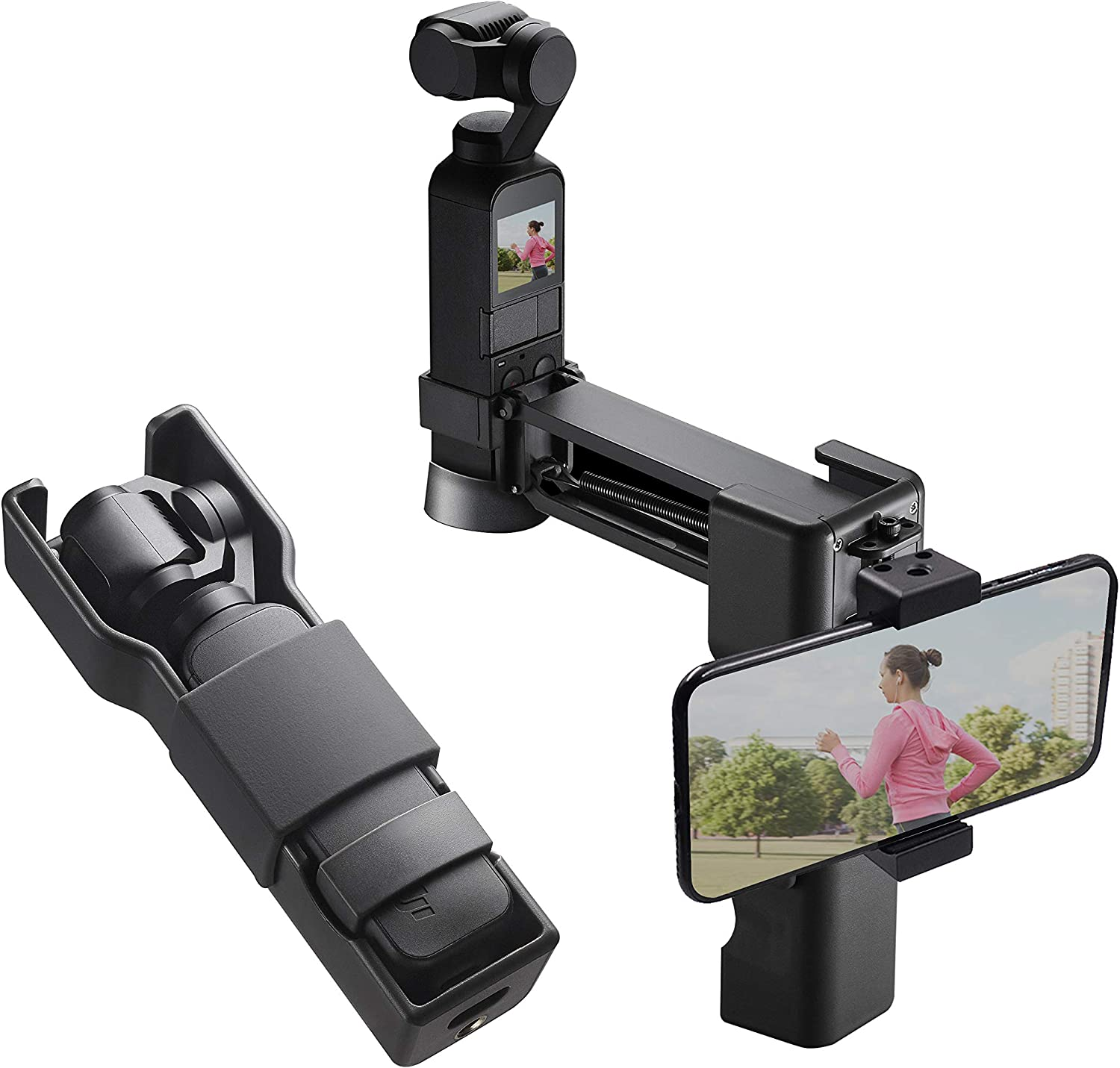TOMAT OSMO Pocket Case, Mini Handheld Anti-Shake Vlog Z Axis Stabilizer Carrying Case Smartphones Holder for DJI OSMO Pocket Accessories