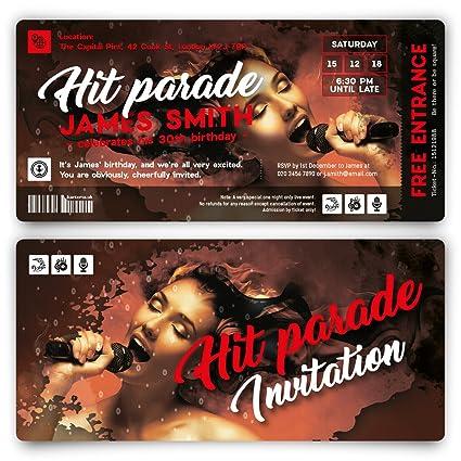 Cumpleaños Tarjetas De Invitación Invitaciones Hit Parade