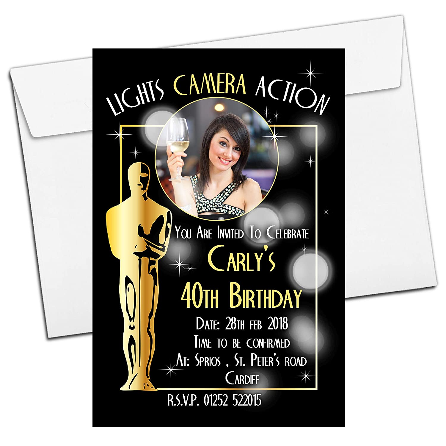 Personalised Birthday Party invitations 18th or any age