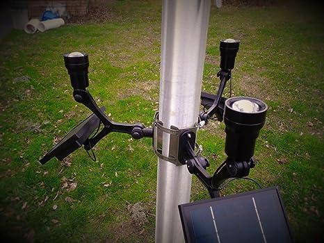 PolePalUSA Xtreme Commercial Solar Flagpole Light