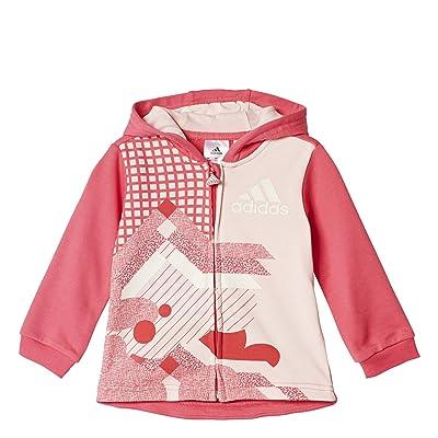 adidas Girls Toddler French Terry Full Zip Jogger Set Pants Hoodie Kids 8b6fce4a17b3