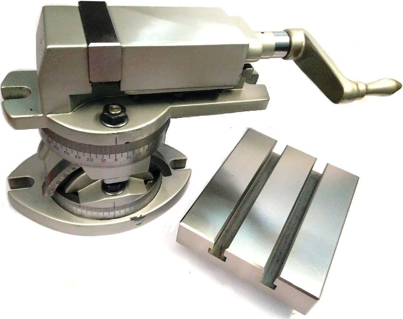"2/"" 50 mm Jaw Width Modular Milling Machine Vise /& Tilting Table 4/"" x 5/"""