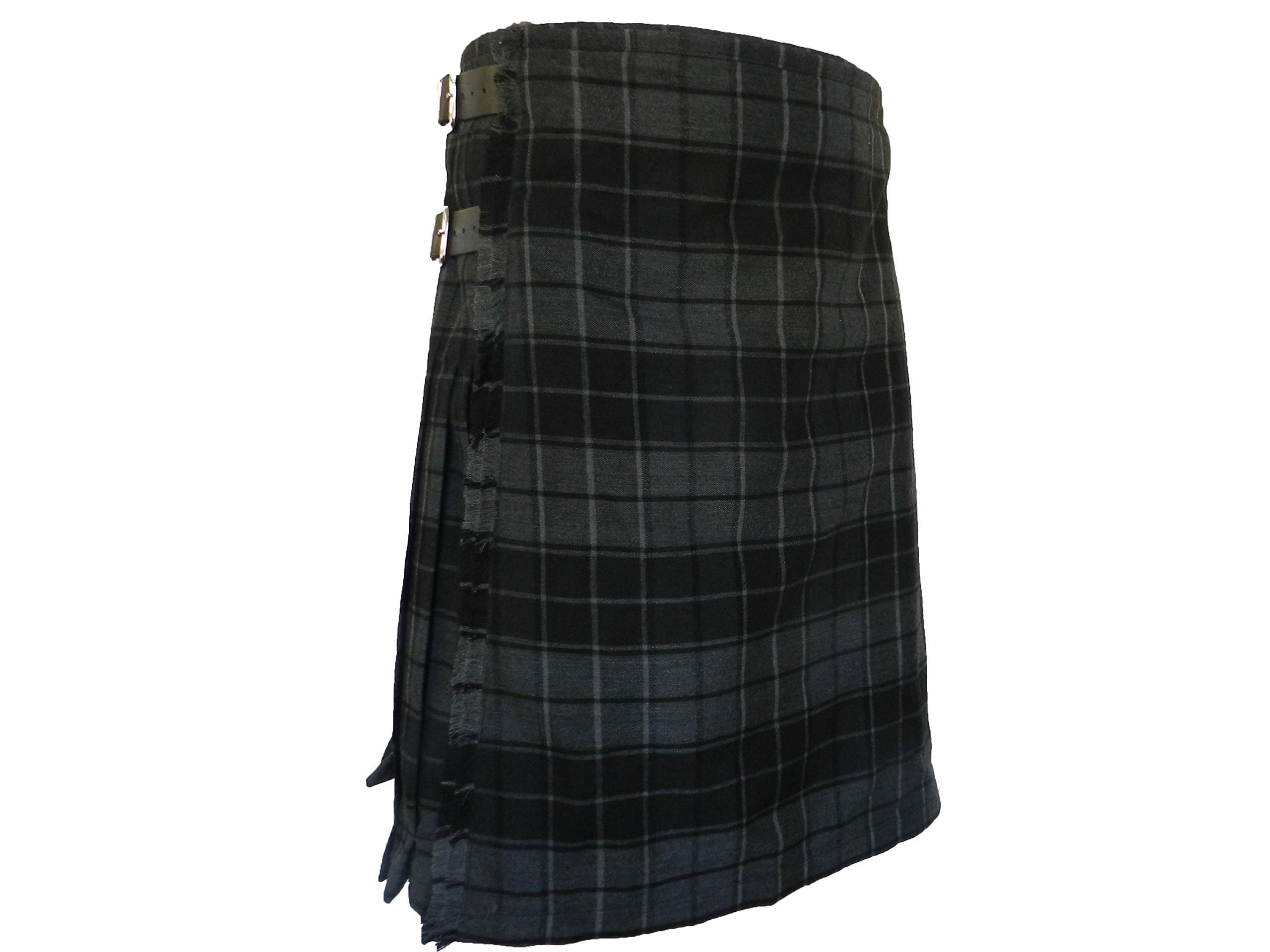 100% 13 oz Wool Scottish Kilts - UT Kilts (40, Gray Highlander)