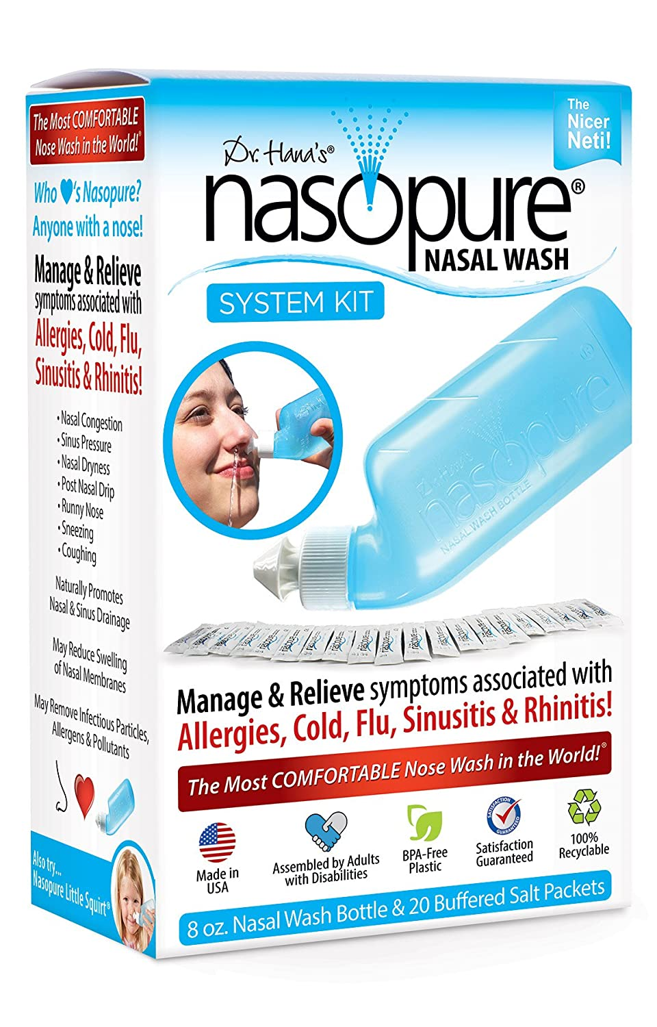 "Save and watch price Roll over image to zoom in Dr. Hana's Nasopure The ""Nicer Neti Pot"" 