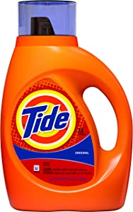 Tide Original Scent Liquid Laundry Detergent, 32 loads, 50 fl oz (Packaging May Vary)