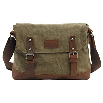 7b3aa63e62c6 Volyer Men s Vintage Military Canvas Messenger Bag Crossbody Shoulder Bag  Army Green