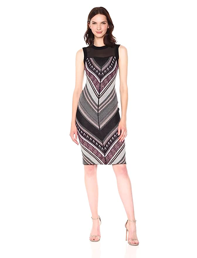 823659de61b RACHEL Rachel Roy Women s Chevron Tweed Sweater Dress at Amazon Women s  Clothing store