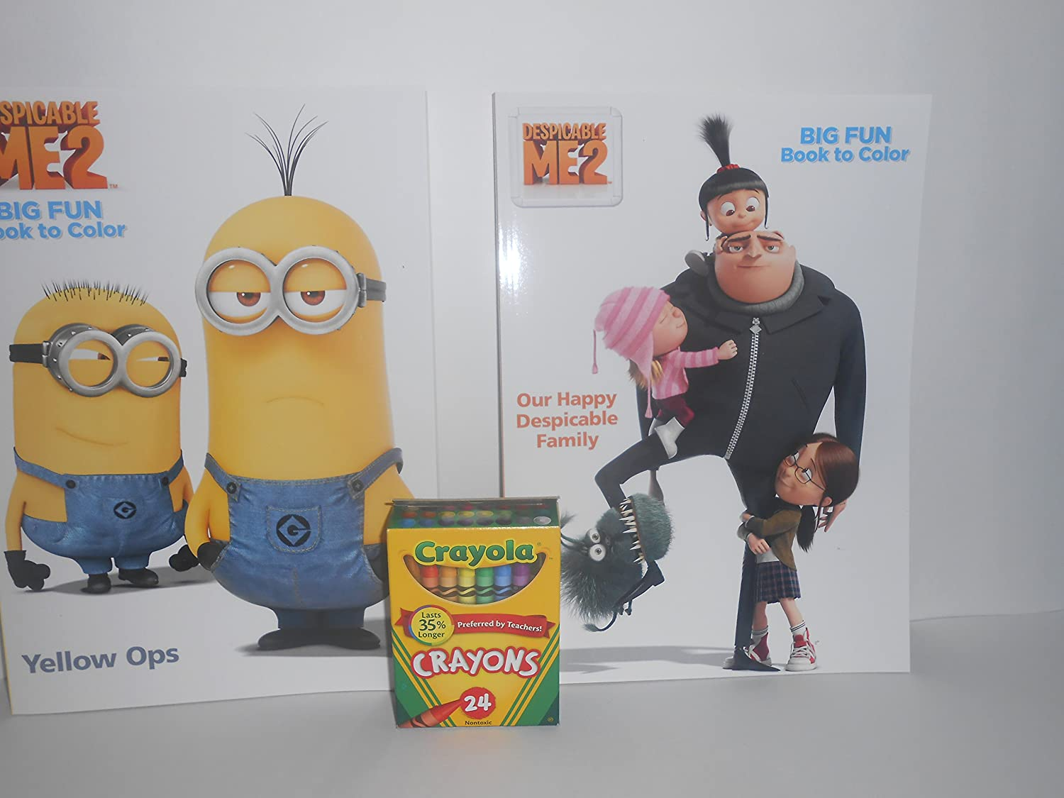 Minion Coloring Book Set of 2 and 1 Box of Crayons Universal