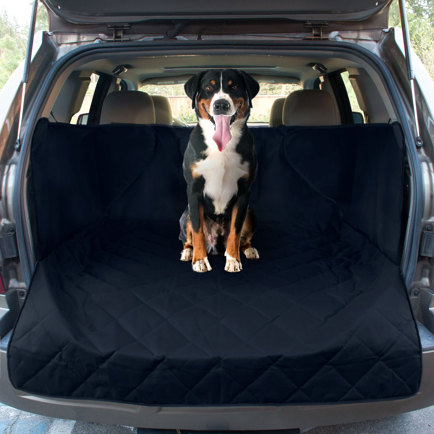 FrontPet Extended Width Quilted Dog Cargo Cover for SUV Universal Fit for Any Animal. Durable Liner Covers and Protects Your Vehicle by FrontPet (Image #3)